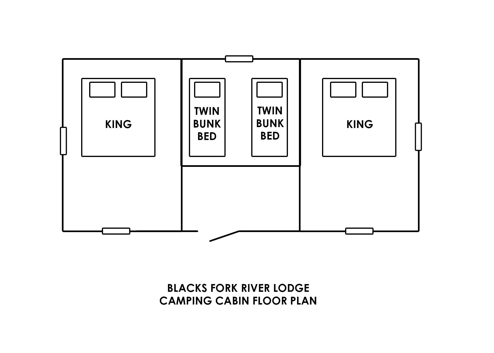 Blacks Fork River Lodge Cabins Floor Plan